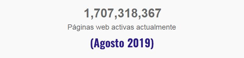 cantidad de paginas web