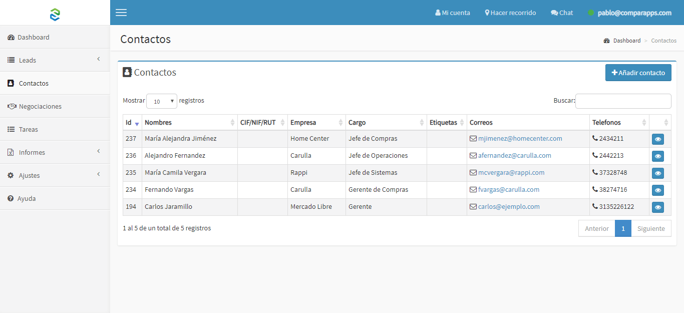 SmartProspect Contactos