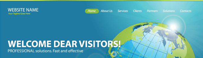 menu sitio web