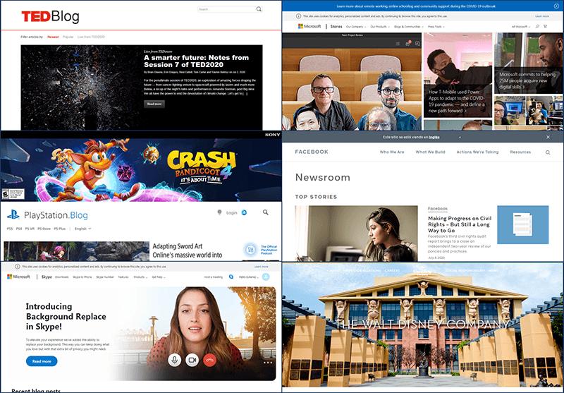 paginas hechas con WordPress