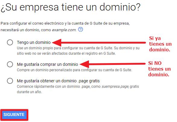 Dominio G Suite