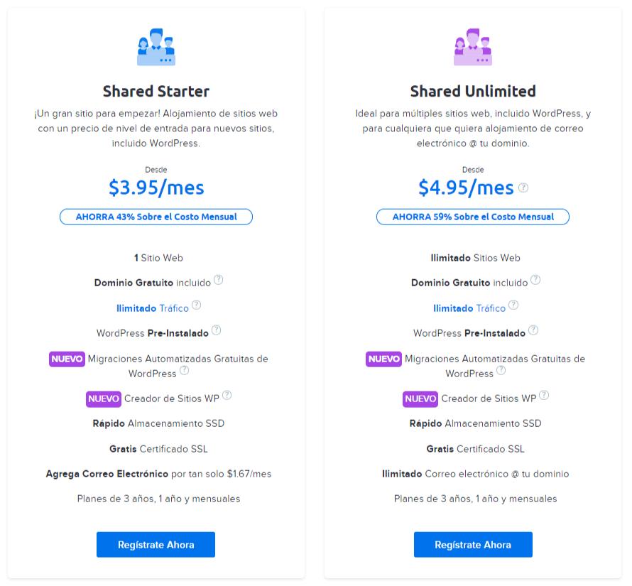 precios dreamhost