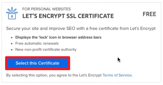 Paso 3 Certificado SSL Gratis WordPress
